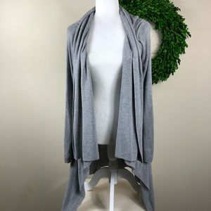 TALULA | Gray Open Front Cardigan Duster Sweater S
